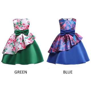 RM55 GIRLS SLEEVELESS ELEGANT PRINCESS DRESS