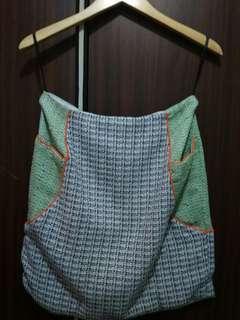 Rok tweed hijau