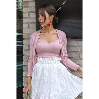 韓國代購🇰🇷 女套裝(背心+外套)