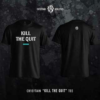"CH1EFTAIN ""KILL THE QUIT"" tee in Black"