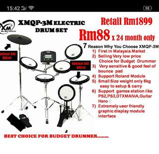 XMQP-3M Electric Drum Set
