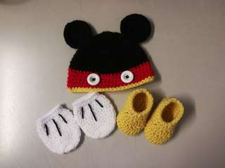 Crochet Mickey Mouse Baby Gift Set