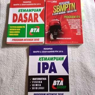 Buku Les BTA Intensif 2016 TKPA dan Saintek & SmartPlus TKPA Saintek