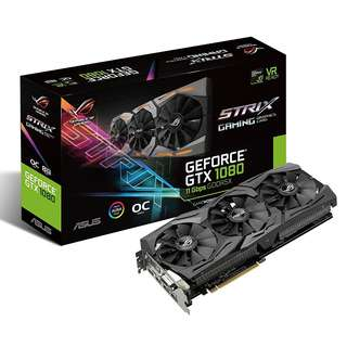 ASUS ROG Strix GeForce® GTX 1080 OC edition 8GB 11Gbps GDDR5X