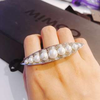 Mimco pearl and marble stone ring
