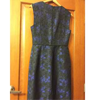 Jigsaw BNWT Smart Casual Dress Cocktail Party Work Wedding Prom Formal Blue Summer Size 10