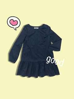 Dark blue long sleeves dress