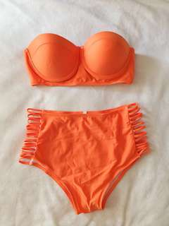 Highwaisted Two Piece Bathing Suit