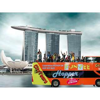 COMBO :    MBS SkyPark Sightseeing + 1-Day FunVee Hopper Pass