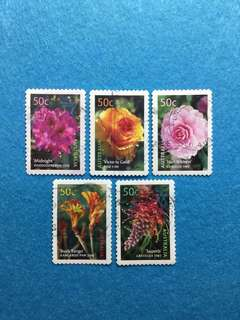 2003 Australia Blooms- Australia Cultivars 5 Values Used Set