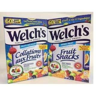 Welch's 雜果味果汁軟糖 (一盒有60包😋)