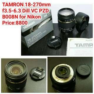 TAMRON 18-270mm  f3.5-6.3 Dill VC PZD B008N for Nikon