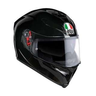 AGV K-5 Solid Gloss Black Helmet