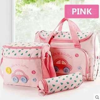 4pc Diaper Bag Set - PINK