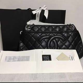 Chanel grand shopping tote bag black