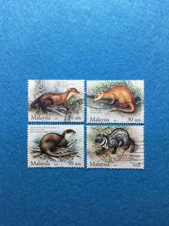 2005 Protected Mammals Series3 4 Values Used Set