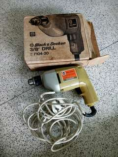 (Special 50%Offer $120=$60 )1963 Vintage Black & Decker Drill