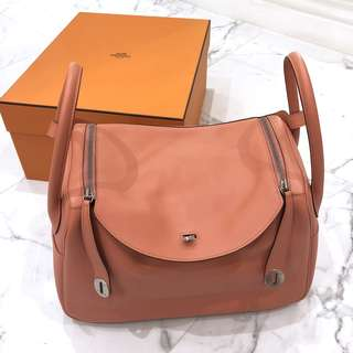 Hermes Flamingo Evercolour Lindy 34