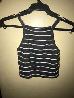 Stripes halter top
