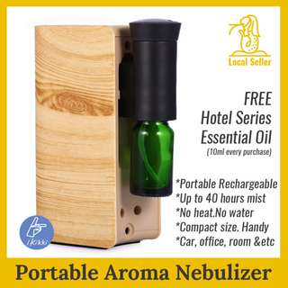 ✿ Aroma Nebuliser ✿ Diffuser. Direct from essential oil ✿ Waterless. No Heat. Rechargeable. handy ✿