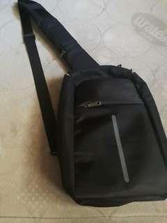 Black sling bag for men