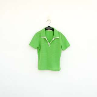 二手 綠色 彈性 上衣 短T 明太子 523