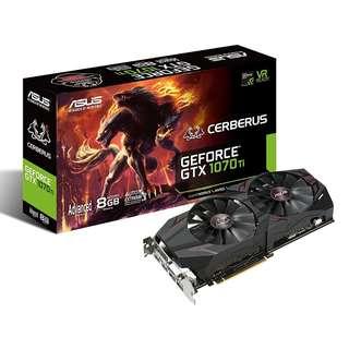 ASUS Cerberus GeForce® GTX 1070 Ti Advanced Edition 8GB GDDR5