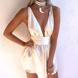 Sisters The Label Silk Playsuit