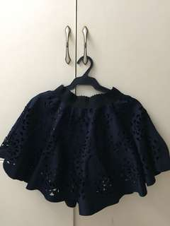 laced skirt (navy blue)