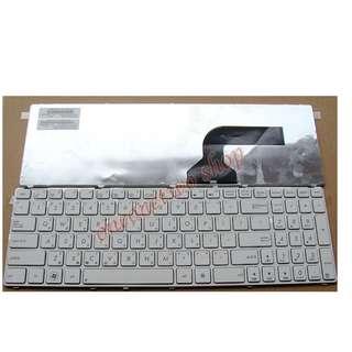 全新 華碩 ASUS G72 G73 k53 A53 A52J X43SV G51 G53 N53 N53SN G60 G60J G60JX G60VX 中文鍵盤 (白色)(注意背面排線