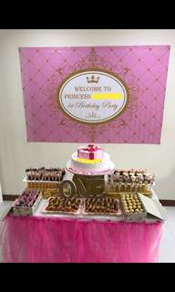 EVERYTHING! Rental of Princess Dessert Table (Including Table!)