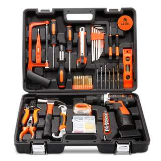 Professional Household Tools Set with Cordless 16.8v Lithium Drill + (Extra lithium Battery + EXECUTIVE GIFT PACK) LIMITED STOCK***US Plug For buyer feedback