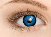 Brand New Cosplay Costume Contact Lens - Alien Blue