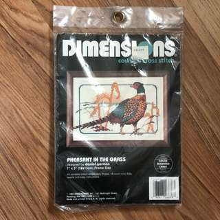 Dimensions cross stitch kit - pheasant in the grass sealed