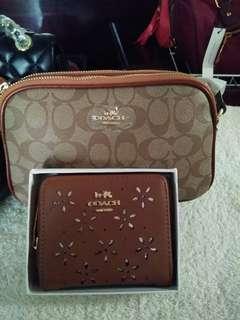 coach sling+wallet