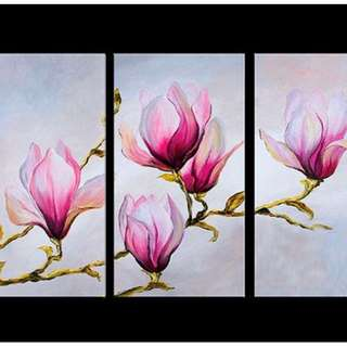 Flower Panel Oil Painting