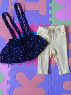Preloved Baby Clothes Pants and skirt 💕