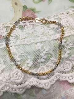 周大福 18k 三色 手鏈 玫瑰金 白k金色 金色 bracelet au 750 CTF CHOW TAI FOOK