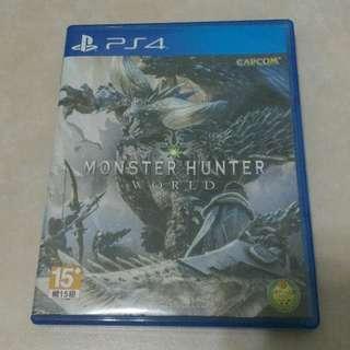 二手 PS4魔物獵人:世界 有中文 無刮傷 不二價