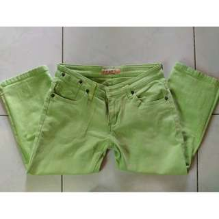 August Lady Style Green Denim Tokong Pants