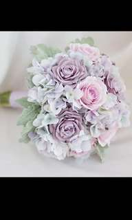 *ONLY 1* High quality & Realistic Artificial/Faux flower bouquets + matching corsages for weddings, photo shoots and events