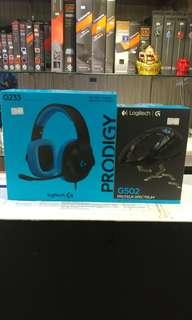 Logitech BUNDLE Promotion! G233 Prodigy Gaming Headset + G502 RGB Gaming Mouse @ $159 (U.P $248)