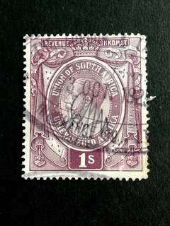 South Africa 1s used stamps