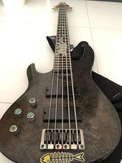 Left Handed 5 String Bass