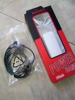 ❌REPRICED❌ Huawei headset. Power bank