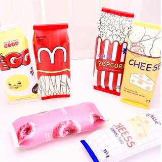 Cute Pencil Case Food Packaging for Boys Girls Birthday Gifts