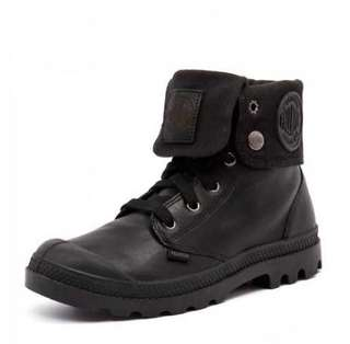 Palladium black leather ankle boots