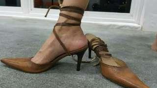 Sepatu Kulit coklat Italy