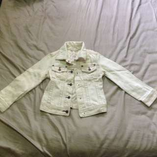 Gap Jeans White Denim Jacket
