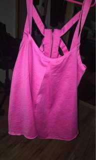 Hot pink stain top